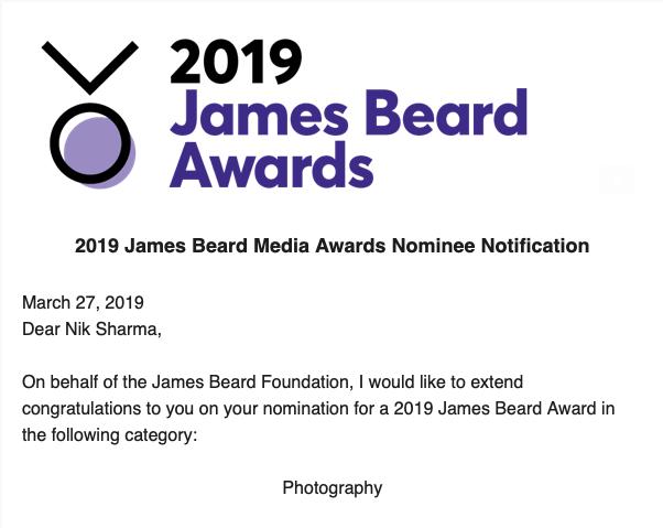 Season Cookbook (Chronicle Books), James Beard Awards 2019