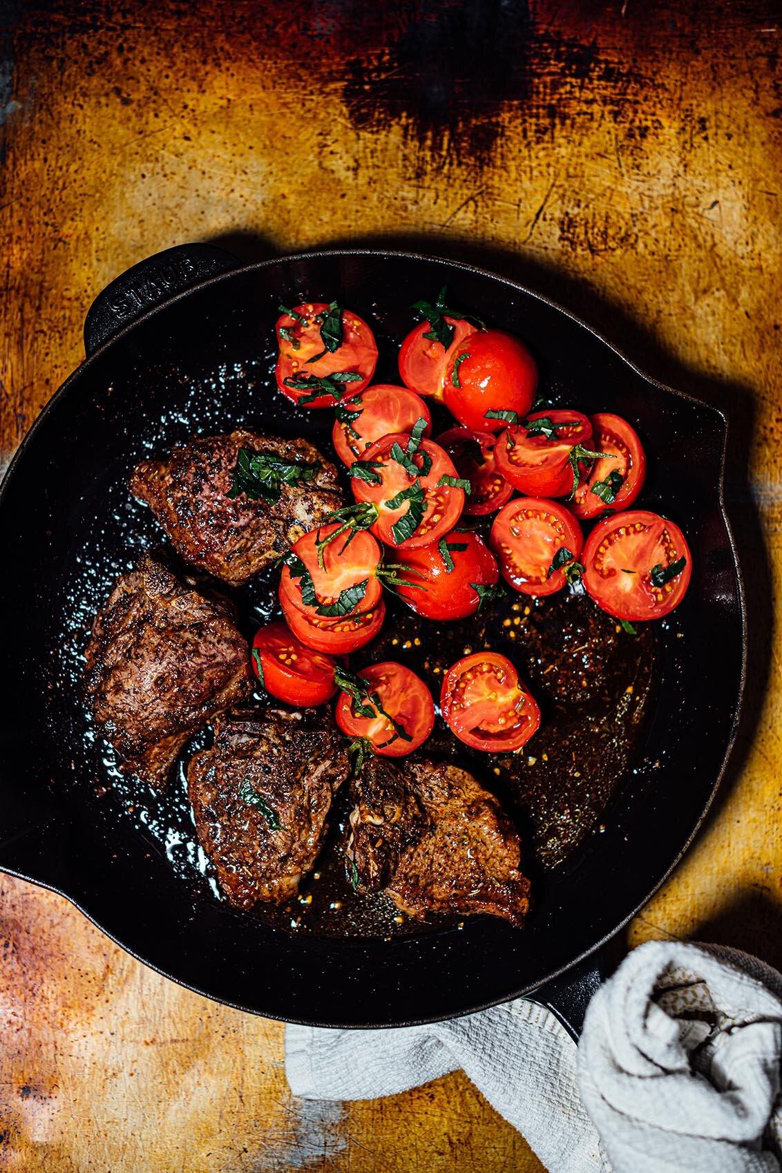 lamb chops recipe tomato spicy lamb chops with tomatoes and mint — Nik Sharma