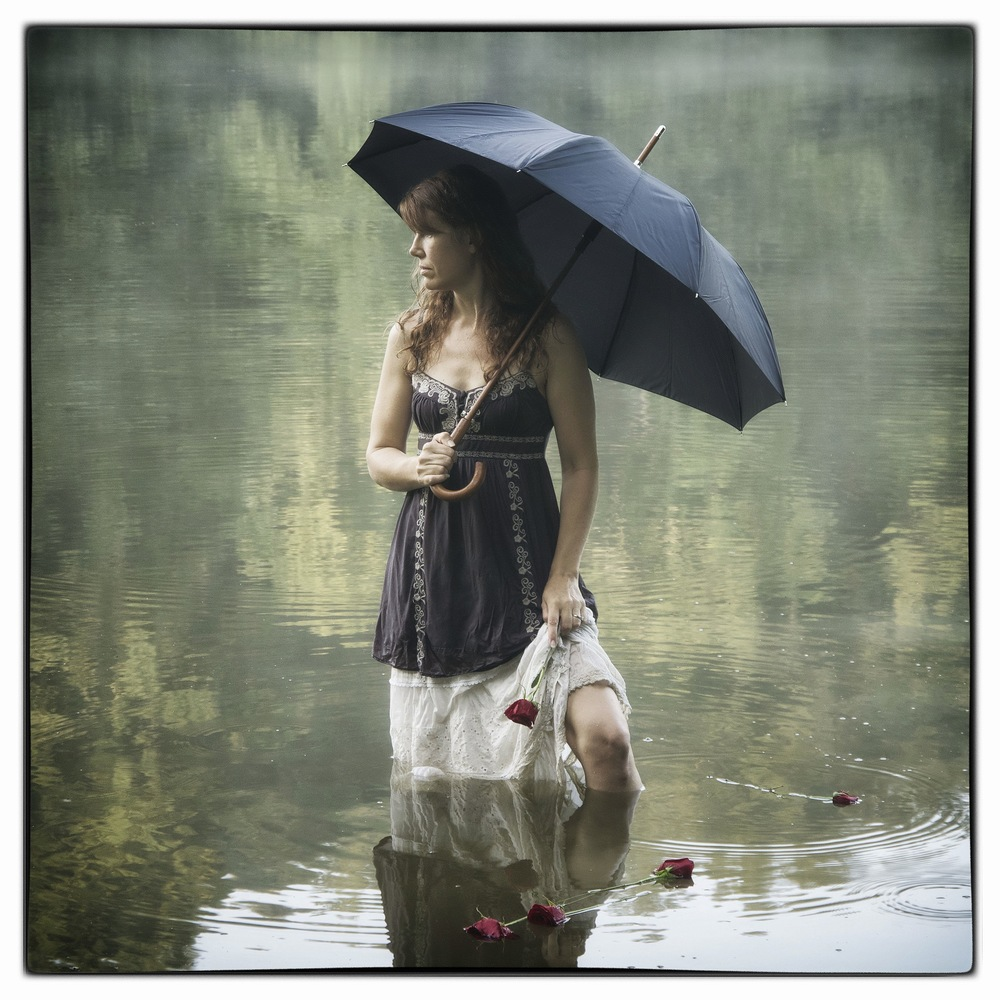 Lady with Black Umbrella