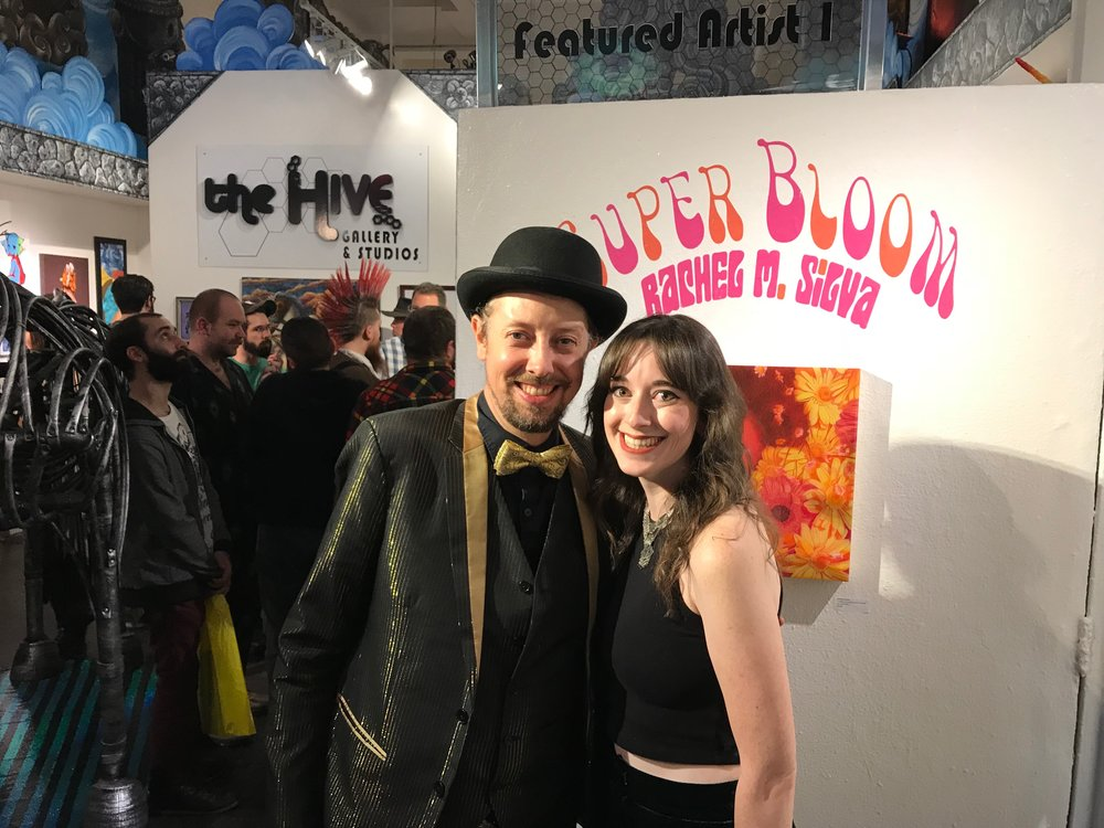 The Hive owner, Nathan, and I at the opening night. He has been such an amazing supporter of my work this year and last year!