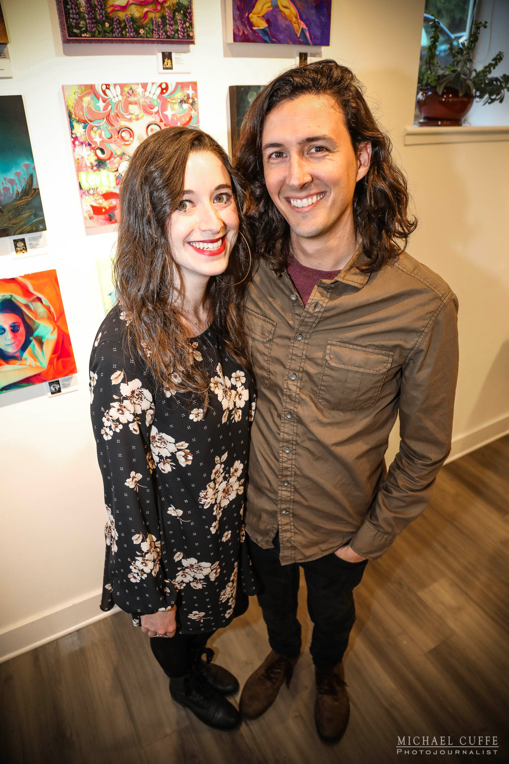 Keith and I at the opening