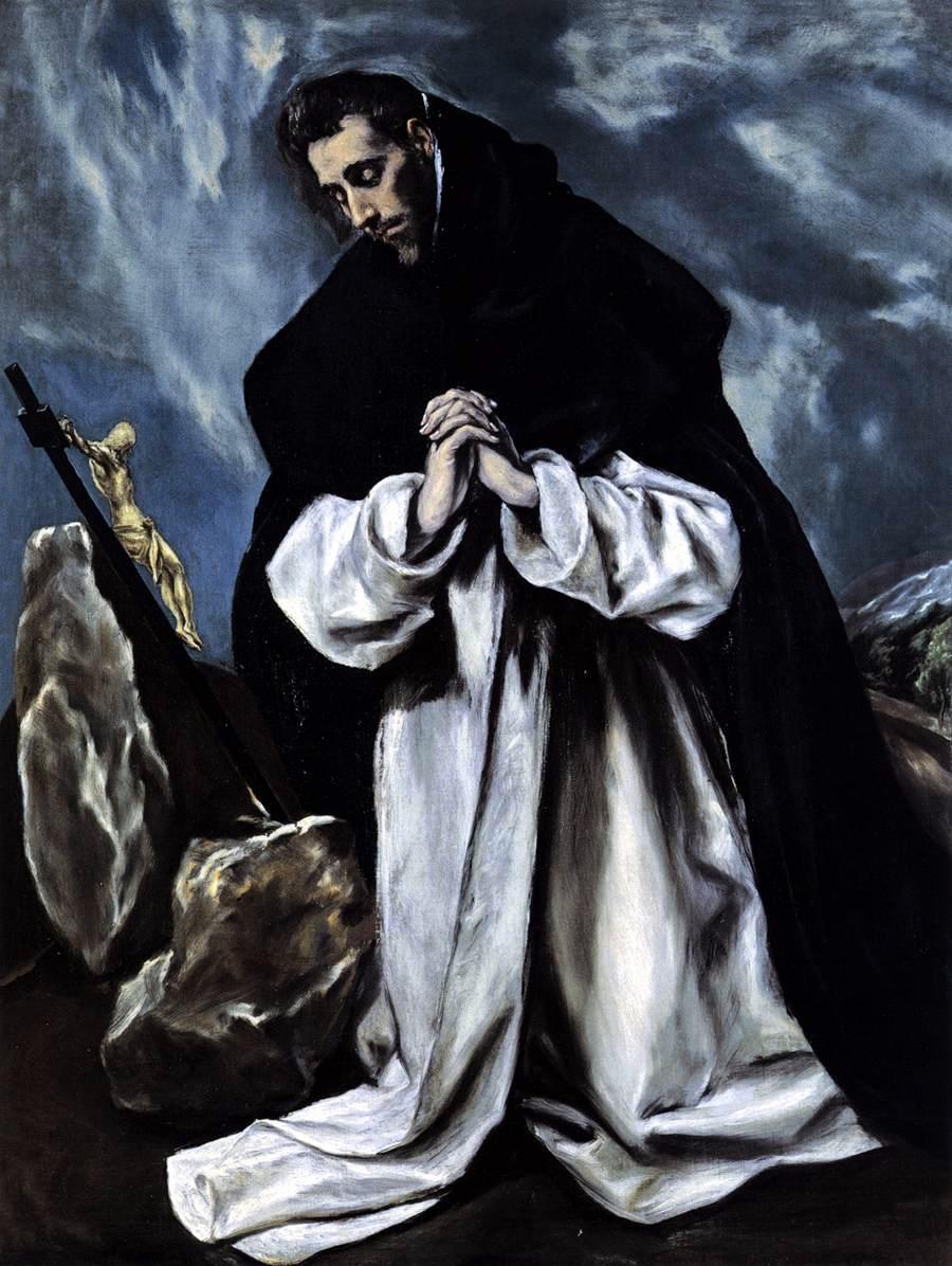 El Greco, Saint Dominic in Prayer 1588