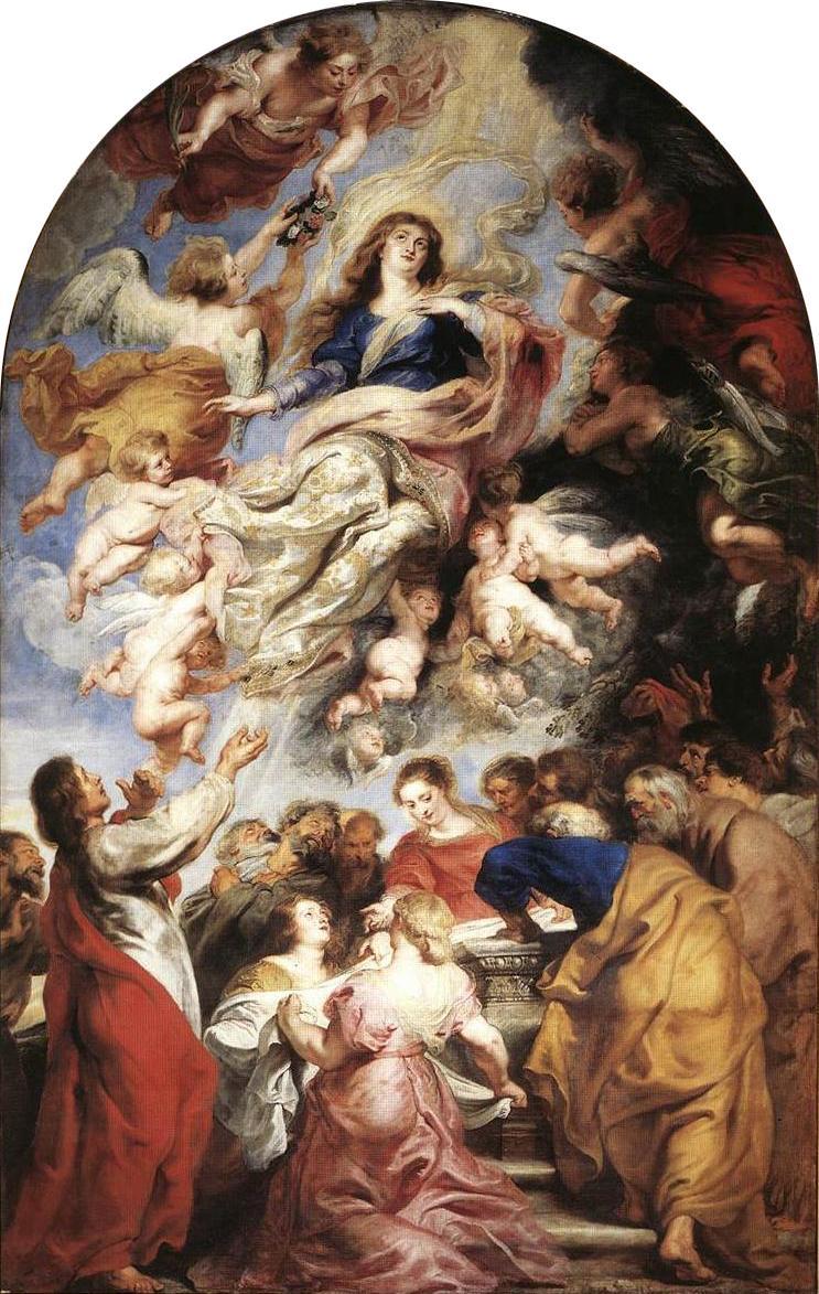 Assumption of the Virgin, Rubens, 1616
