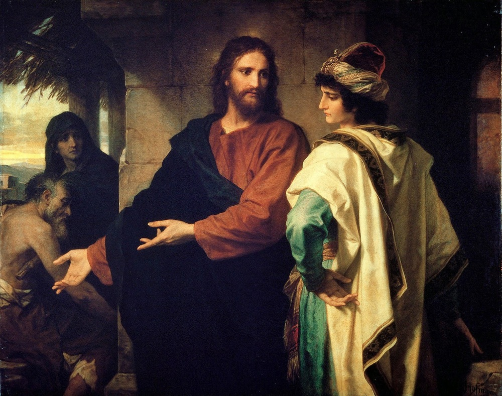 Christ and the Rich Young Ruler, Heinrich Hofmann, 1889.