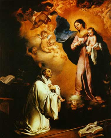 Saint Bernard and the Blessed Mother