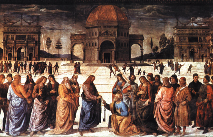 Delivery of the Keys to Saint Peter, Pietro Perugino, 1482