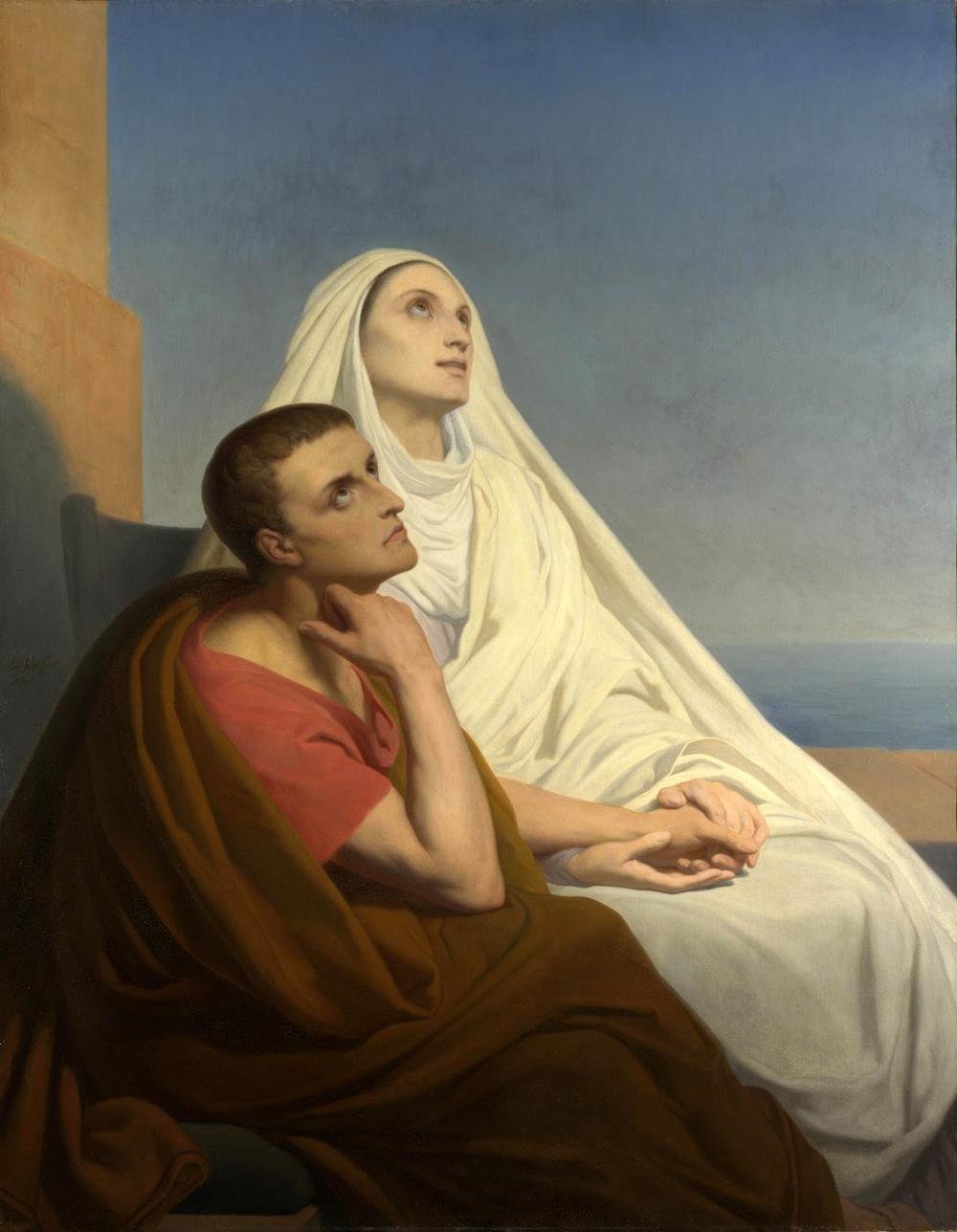 Saint Monica with her son Saint Augustine,Ary Scheffer, 1854