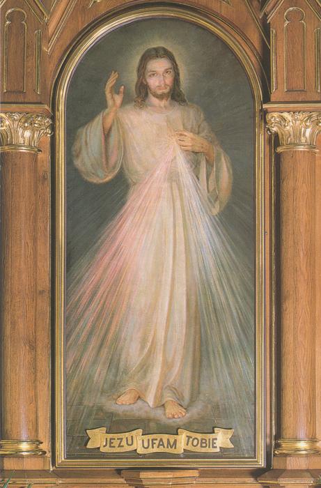 Divine Mercy Jesus, I Trust in You. Adolf Hyla, 1943.