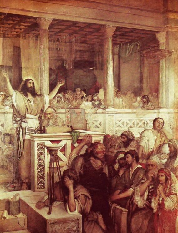 Jesus Preaching in the Synagogue, Maurycy Gottlieb (1856-1879)