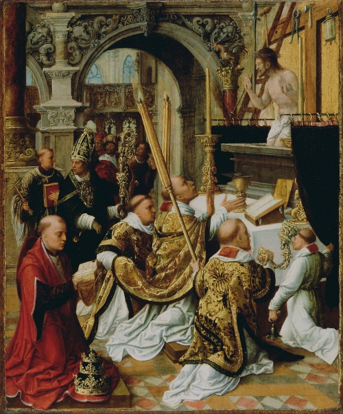 The Mass of Pope Saint Gregory the Great, Adriaen Ysenbrandt (Netherlands, 1510 - 1551.