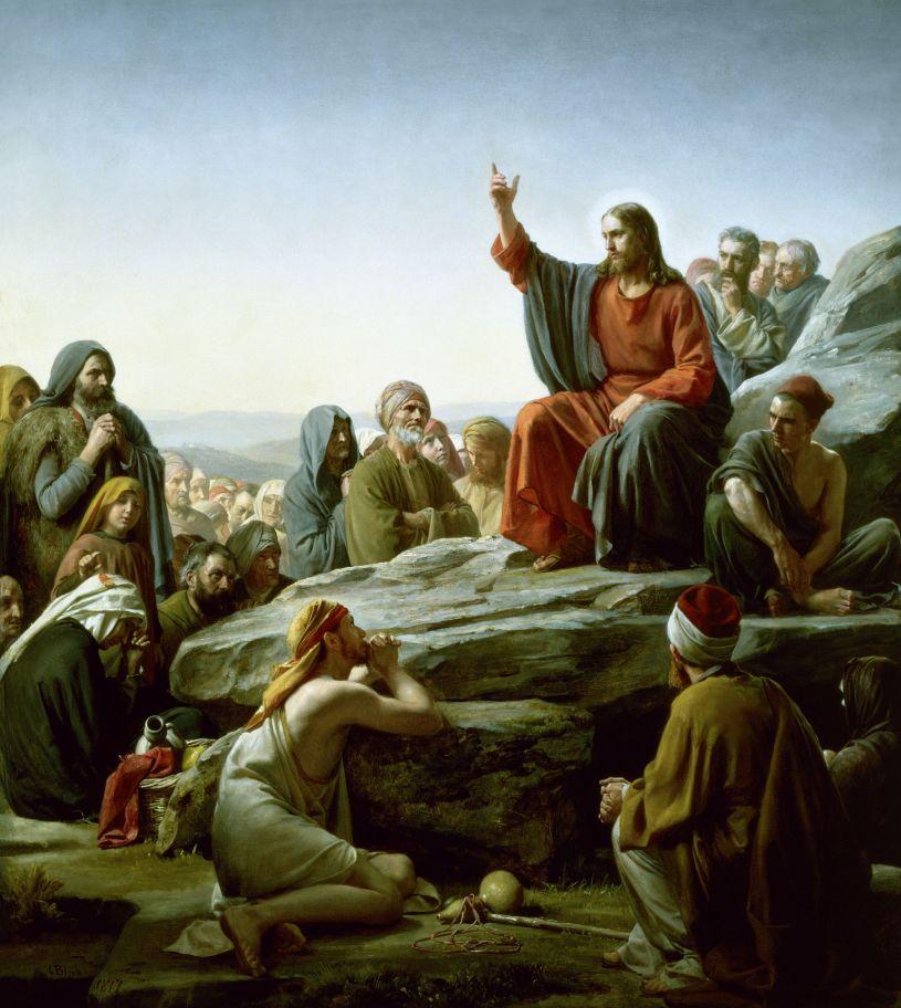 Sermon on the Mount, Carl Heinrich Bloch, 1834-1890.