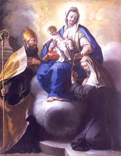 Our Mother of Consolation with Saints Augustine and Monica, Paolo de Matteis 1709