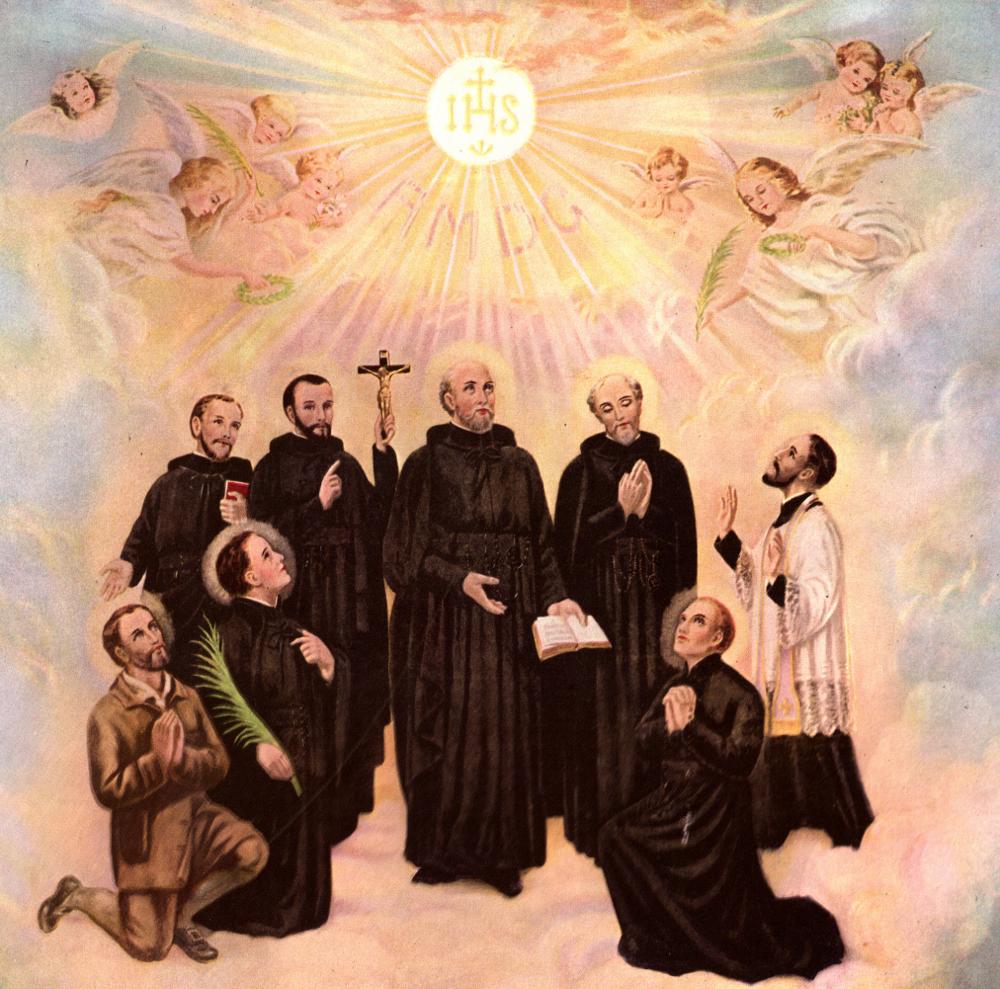 Sts. Jean de Brebeuf, Noel Chabanel, Anthony Daniel, Charles Garnier, Isaac Jogues, Gabriel Lalemant, Rene Goupil, and Jean de la Lande