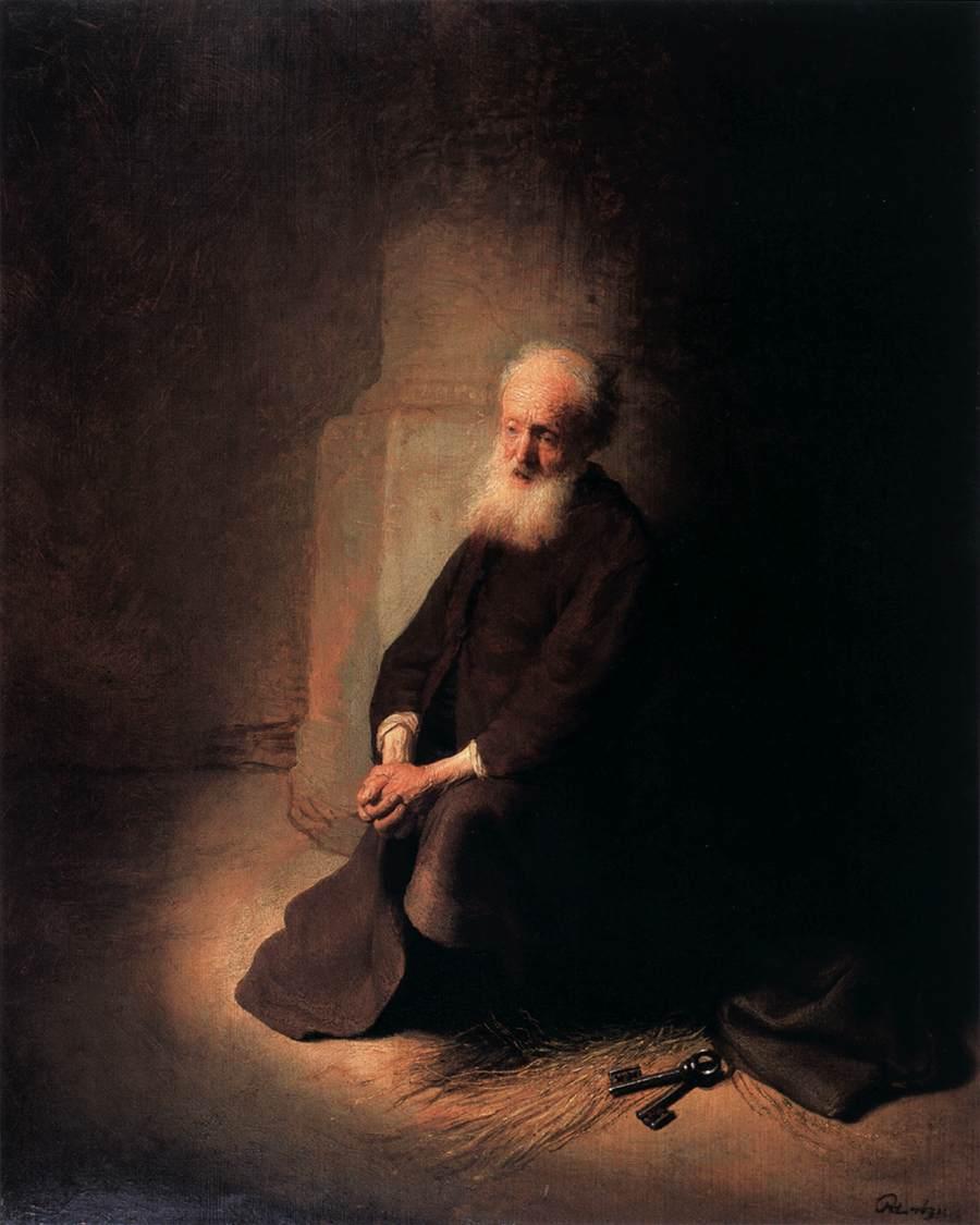 Peter in prison (Rembrandt)