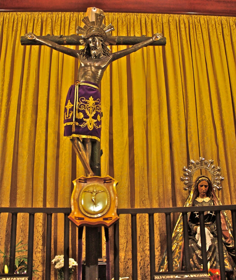 The crucifix from the ship the Don Juan from the battle of Lepanto on October 7th, 1571.