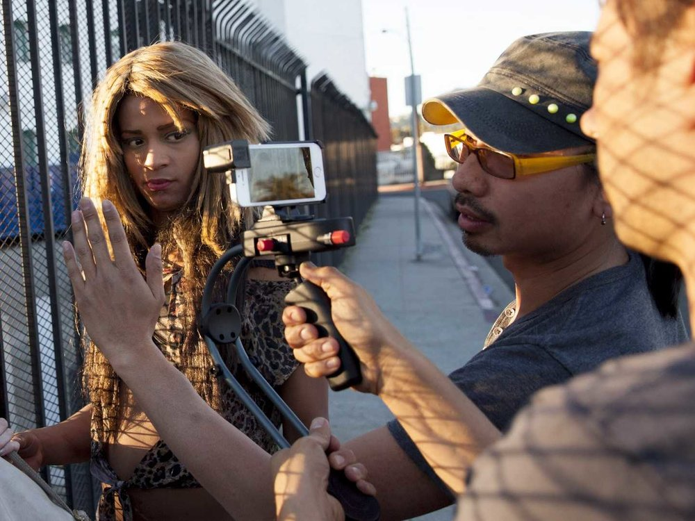 On set, Tangerine