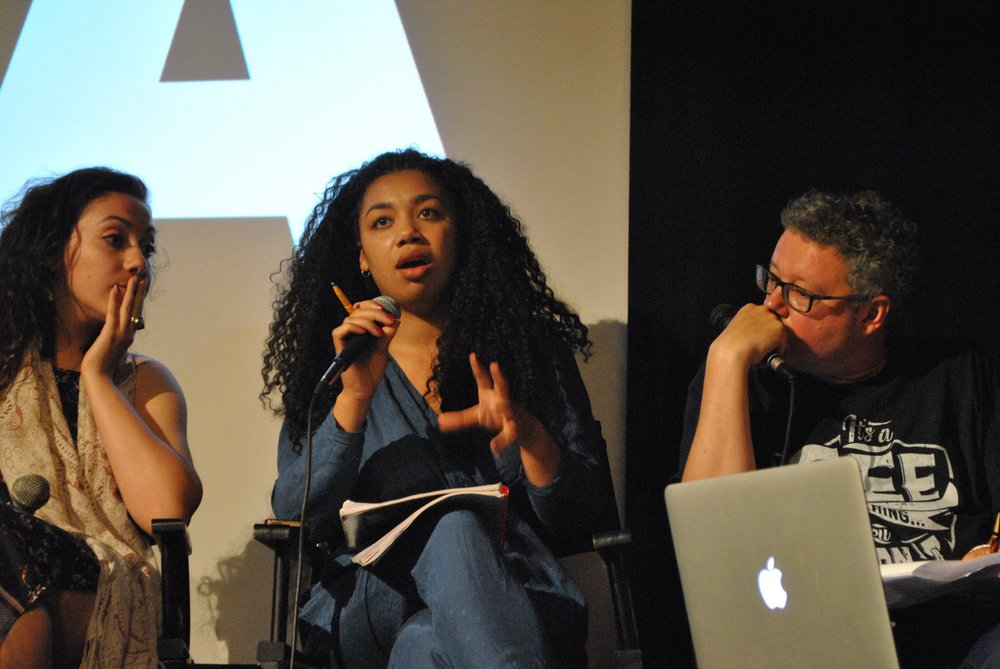 ICA SCREENING  // May 2017  Eye Want Change in conversation with  Aziz Alhamza  (Raqqa Is Being Slaughtered SIlently),  Charlie Brinkhurst-Cuff  (Guardian, gal-dem, Dazed),  Adam Gee  (Channel4, ITV, Arkangel), and  Nadira Amrani  on the subject of  Diversity in Film: Smartphone and Digital Filmmaking.  Plus a screening films entered into our competition over the years.