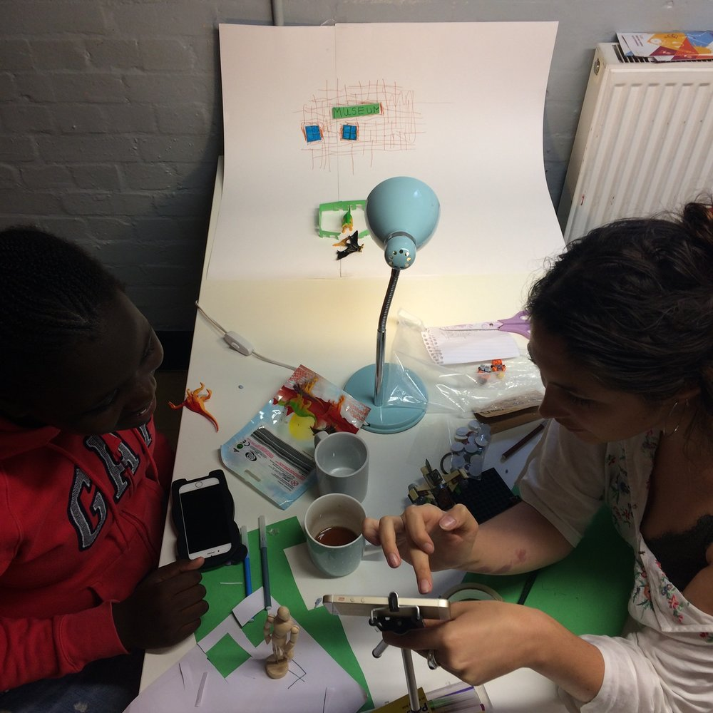 PEABODY + ICA SUMMER HOLIDAY PROGRAMME // August 2017 Two practical smartphone stop motion workshops commissioned by Peabody and the ICA as part of Peabody Estate's summer holiday programme. The workshops were designed for children and young adults, 11-18 years old.