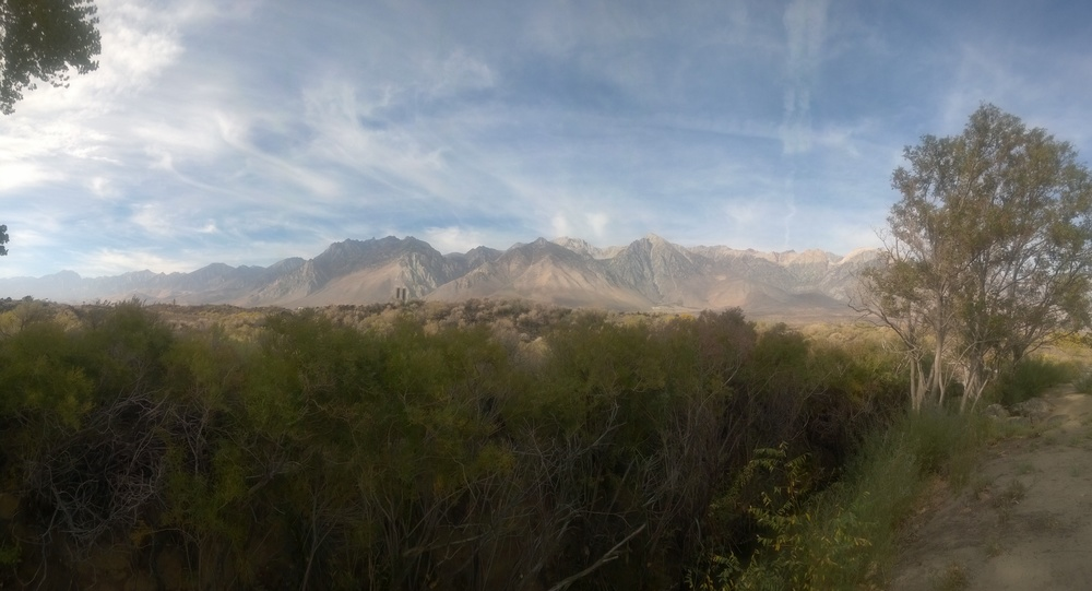 In Lone Pine there were Mountains on both sides of us