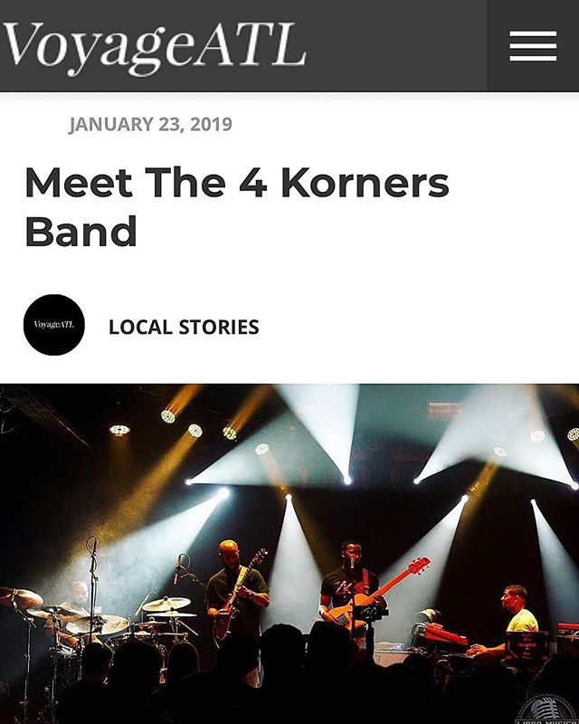 S/O to @voyageatl for the interview‼️🔥 Check out the full article on their website! Link in story! . . . #The4Korners #ItsAllGod #PlayWithPurpose #JourneyMusic #FindYouJourney #PortalOfGold