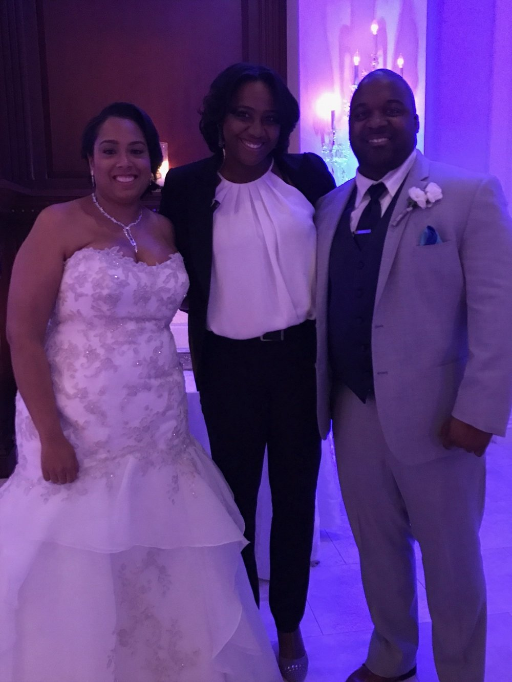 Raquel was able to get a quick photo with the Bride and Groom before the festivities began. What a wonderful couple to work with!
