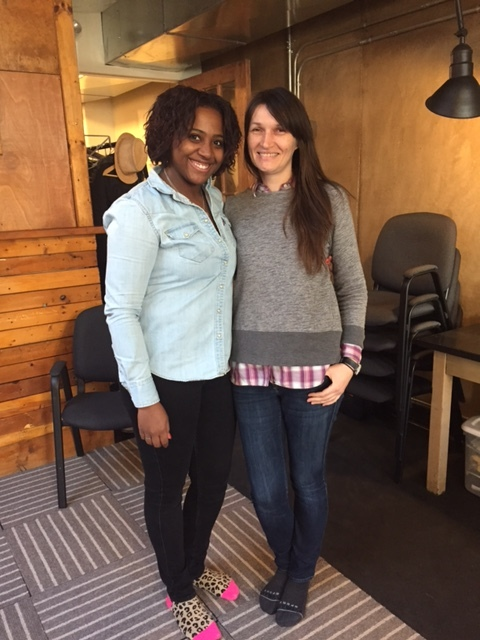Raquel pictured here with the owner of Project Date Night- Dana Uchto