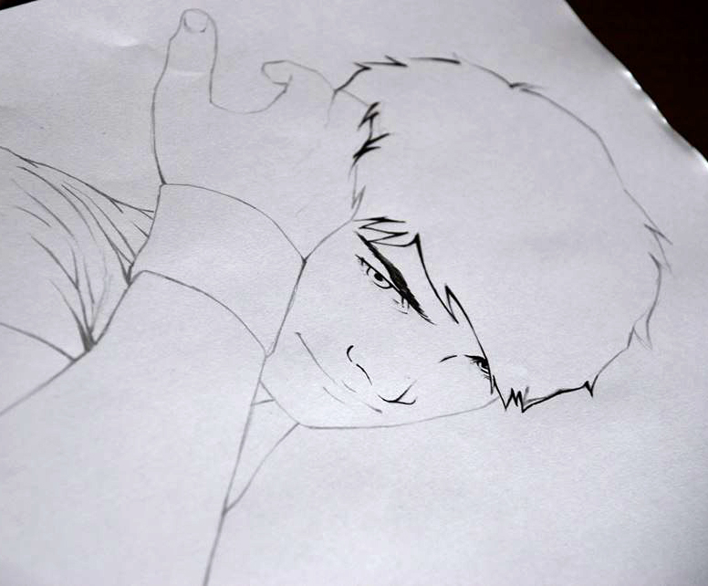 Ritratto manga Vincent