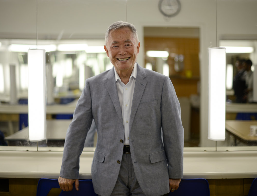 George Takei, actor and activist, poses for a photo before speaking at Ryerson Theatre on June 26, 2016.