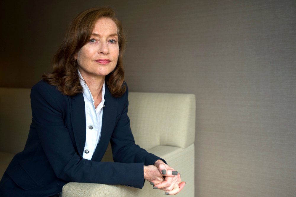 French actress Isabelle Huppert poses for a photo in the Hotel Intercontinental on September 10, 2016. Huppert stars in three movies at TIFF this year - Elle, Things to Come and Souvenir.