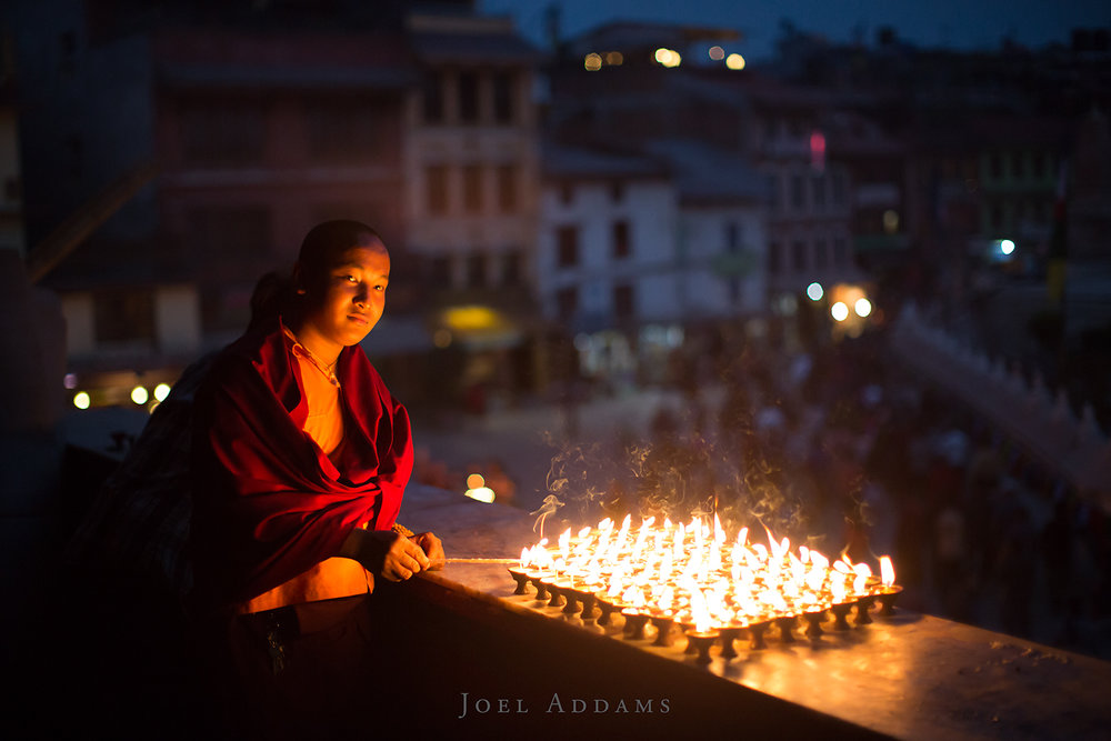 Evening Candles, Kathmandu. Photo by Joel Addams