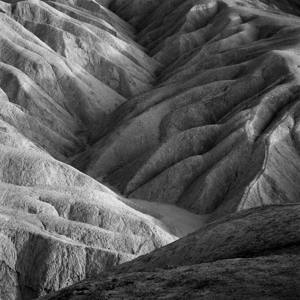 Badlands. Death Valley, CA.