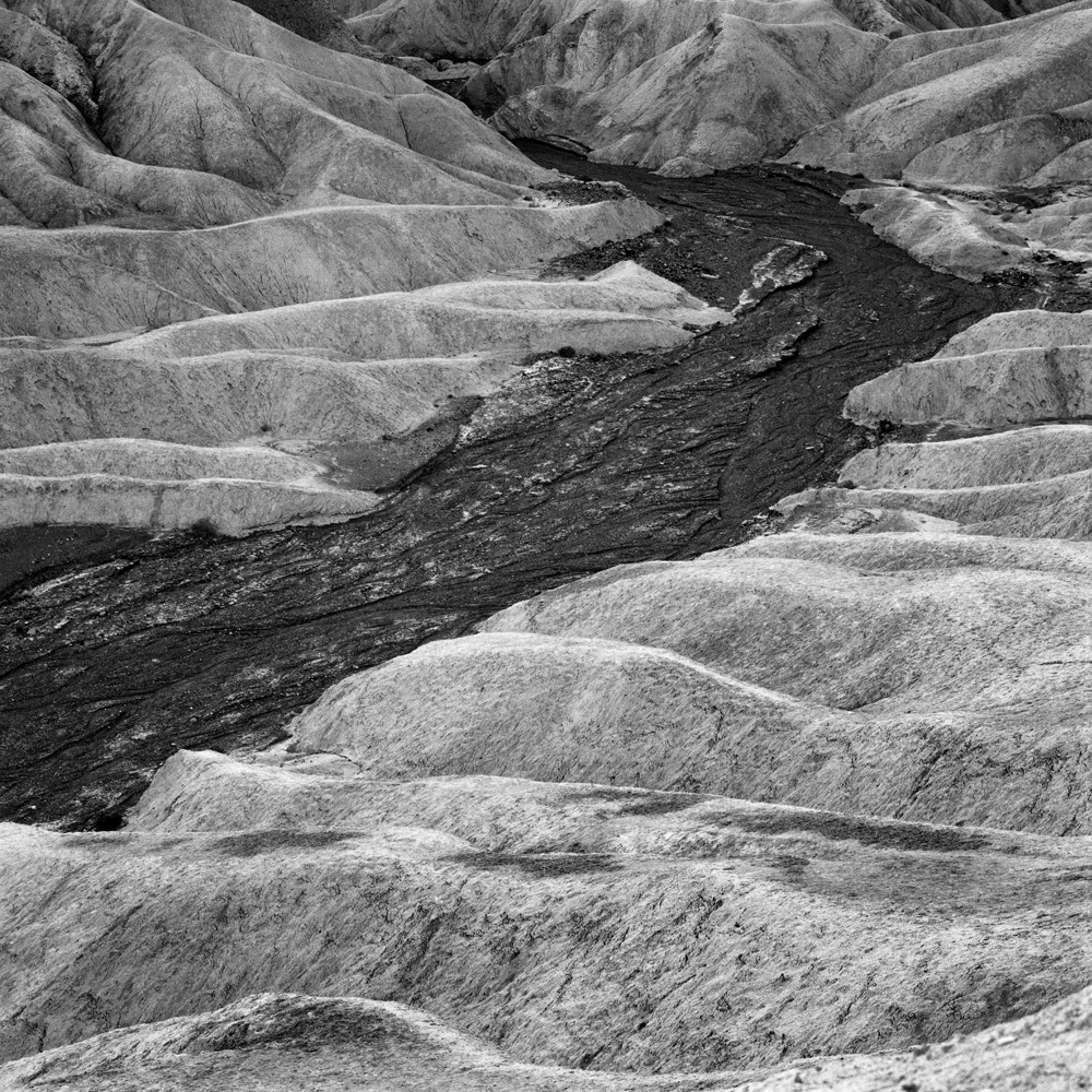 Basalt vein through calcium bentonite. Death Valley, CA.