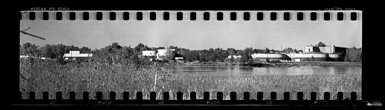 Panoramics.  Everyone loves a panoramic, and the more extreme they are, the better. I've been in search of the perfect way to make panoramics with my 4x5 more economical. Calumet, Horseman and even Shen Hao make good 6x12 backs that all operate with the ease of use that comes along with using 120 roll film, but it comes with an expense. Some are more than others, but the step towards shooting panoramas led me to this idea. Why not make a film back that takes 35mm film? After a brainstorming session, I devised a back that does the job. It's not too efficient, but for now, it'll do the trick. Here's the first frame out of it. Looking forward to more of these…