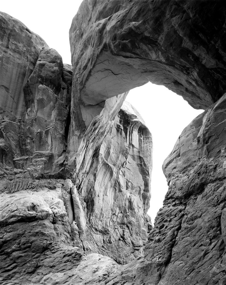 Half of Double Arch. Arches National Park, UT.