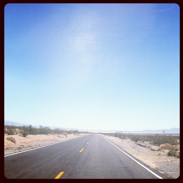 En route to Death Valley! (Taken with  instagram )