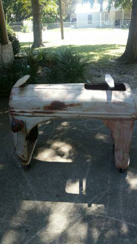 Antique Tractor Front end made into Table (lights do work)