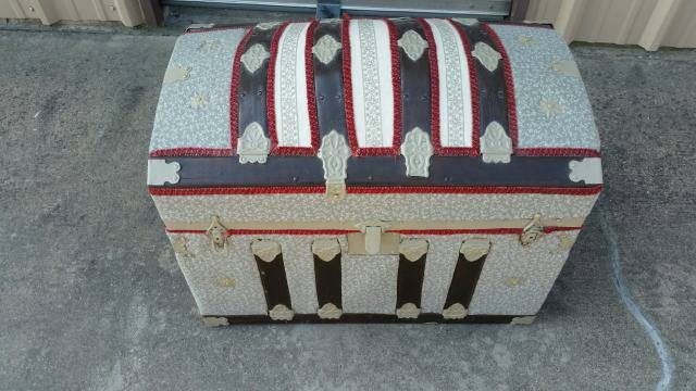 Antique Fully hand quilted trunk