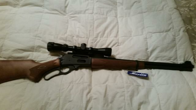 Marlin 30-30 lever action with 3 x 9 scope .