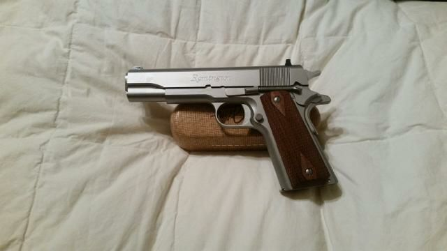 Remington 1911 model 45 automatic stainless steel