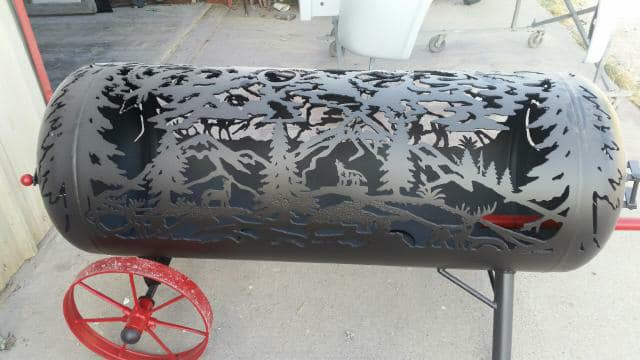 Beautiful Hand Plasma cut Fire Pit  By Jerry Green