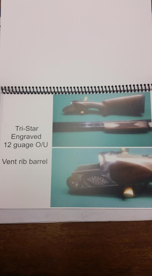 Tri-Star Engraved 12 gauge O/U Vent rib barrel