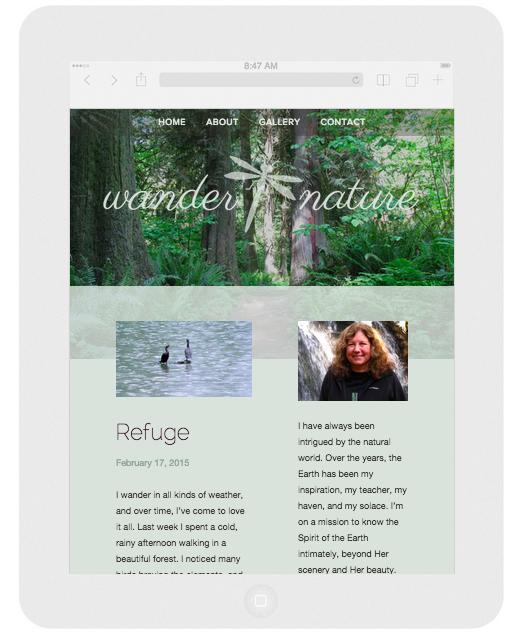 Wander Nature (Vertical iPad View)