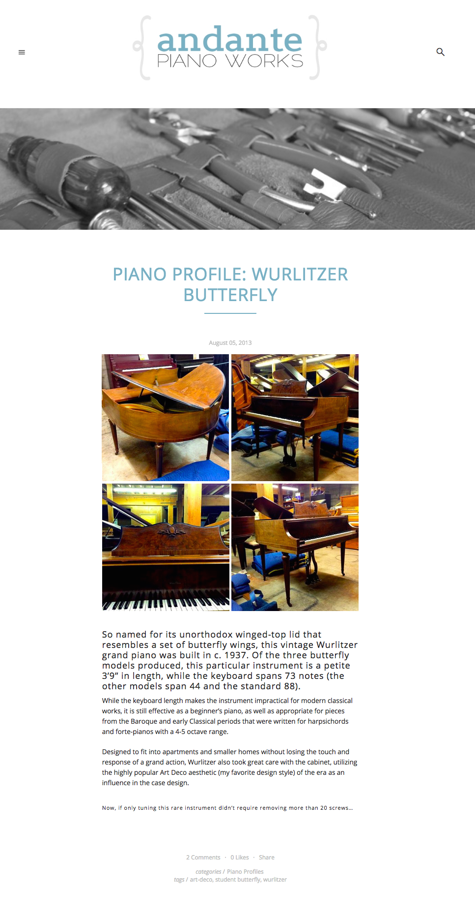 Andante Piano Works - Blog