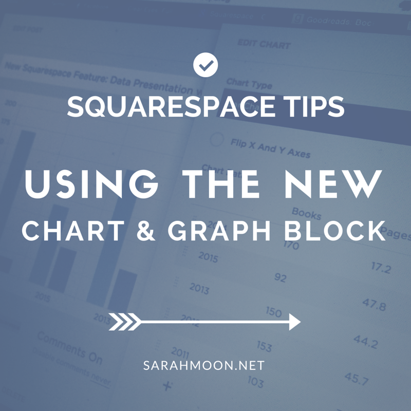 Using the New Squarespace Chart Block - Squarespace Tips from Sarah Moon