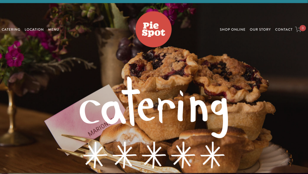 Catering - Did you know that pie holes are way cooler than cupcakes? I love this stylish treatment.