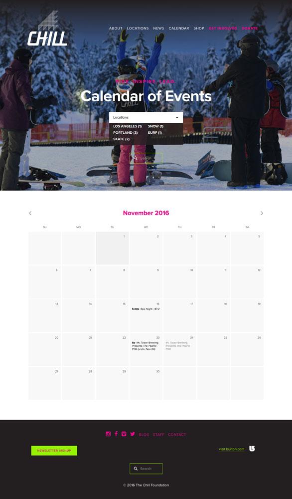 Searchable Calendar