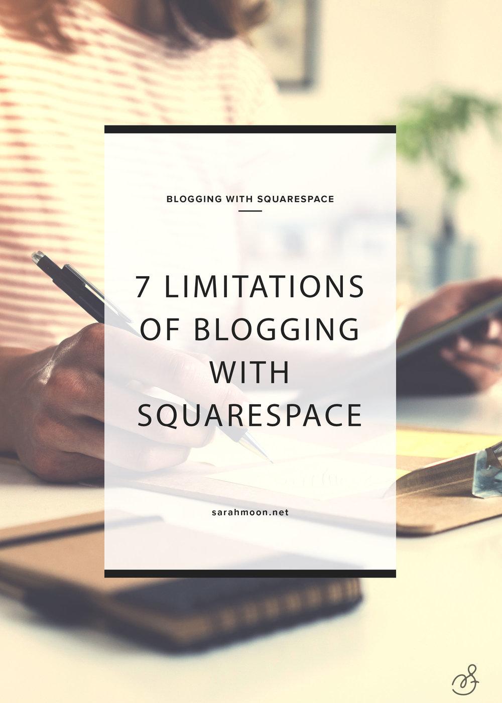 Limitations of Squarespace Blogging - SarahMoon.net