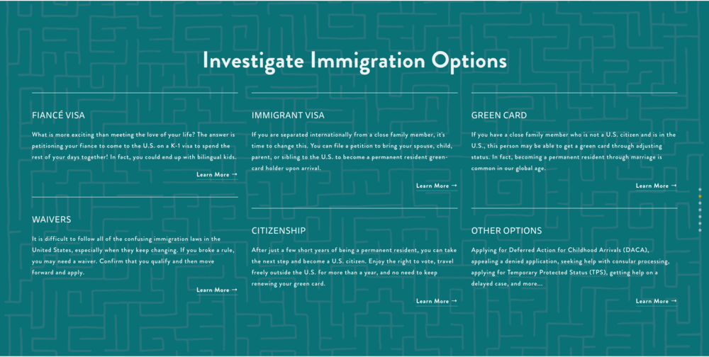 Custom Maze Graphic for Widman Immigration Law Firm - Sarah Moon + Co | sarahmoon.net