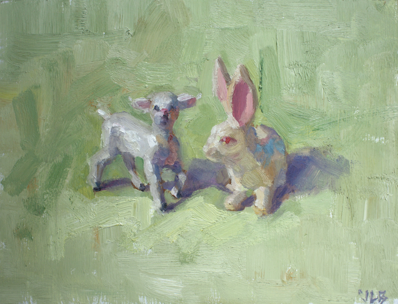 "Cuter than cupcakes, oil on board, 6""x8"" SOLD"