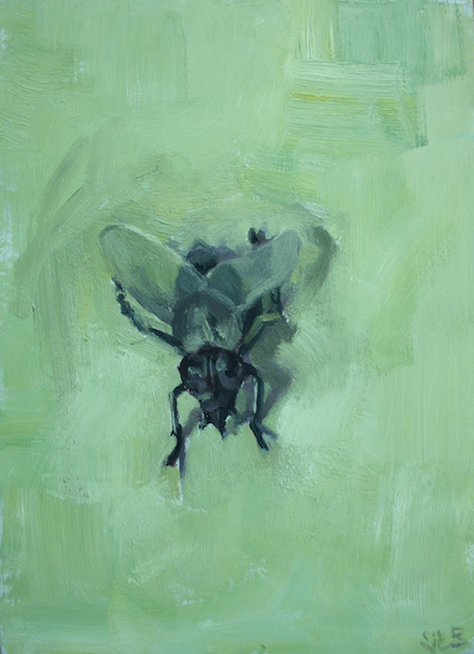 "Faux fly, 8""x6"", SOLD"